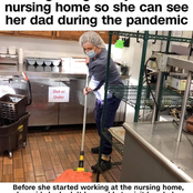 Daughter Gets A Job On A Nursing Home So She Can See Her Dad During The Pandemic