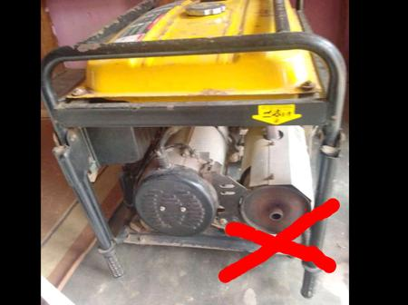 Avoid placing the generator in a place where people can breathe in the smoke from the exhaust