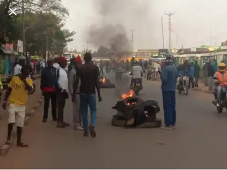 Angry Residents Block Kitale-Eldoret Highway After a Police Officer Allegedly Sodomized Students