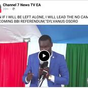 Tangatanga MP Declares He Will Lead BBI No Campaigns
