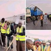 Photos of Northerners Stopping Trucks From supplying Food Items to Southeast