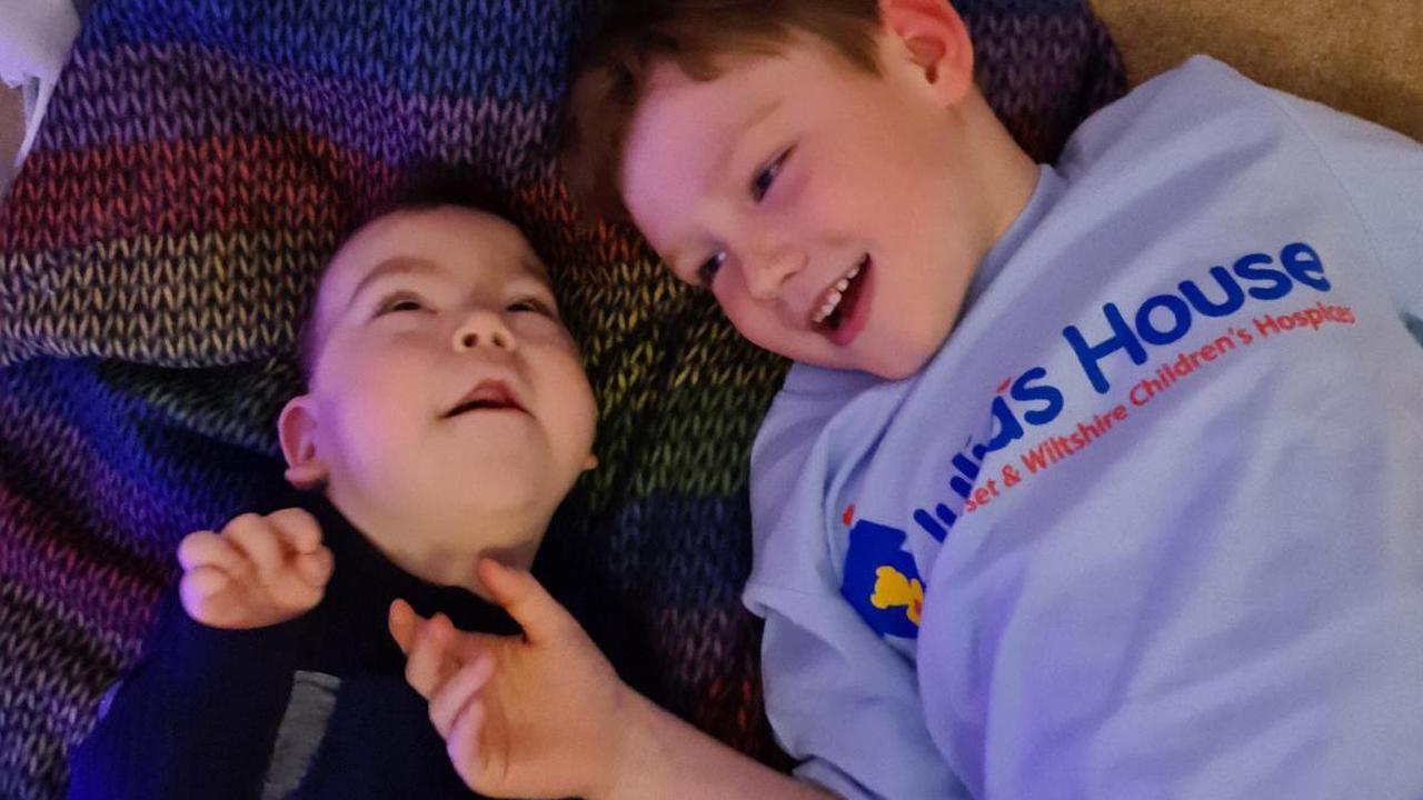 The 7-year-old due to 'race around the moon' for his seriously ill brother