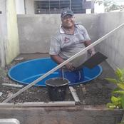 After He Couldn't Afford A Swimming Pool, See What He Did To Make His Family Happy