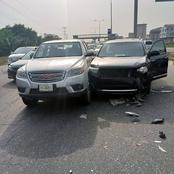 Accident as unregistered Tokunbo Highlander hits pick-up vehicle in Lagos