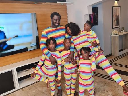 Mercy Johnson Has Fun With Her Family In Today's Easter Celebration