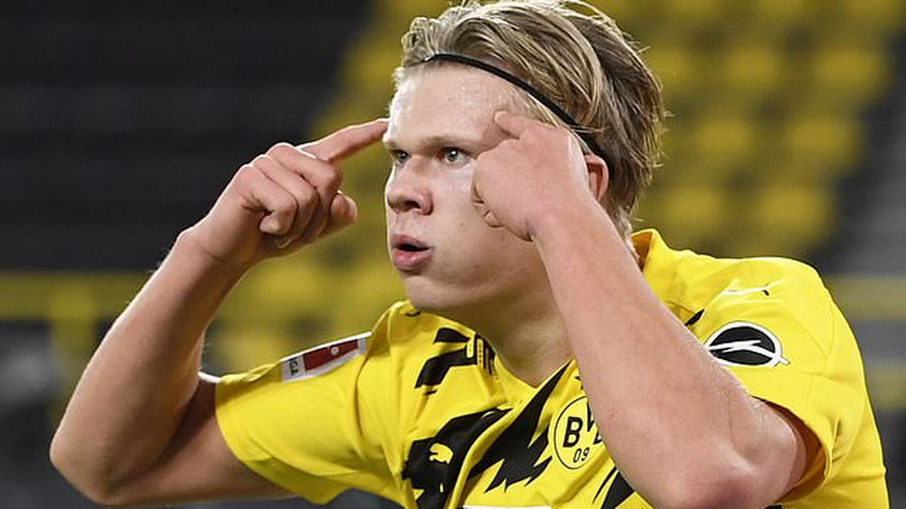 Erling Haaland was ruled out of action for a month with a hamstring injury
