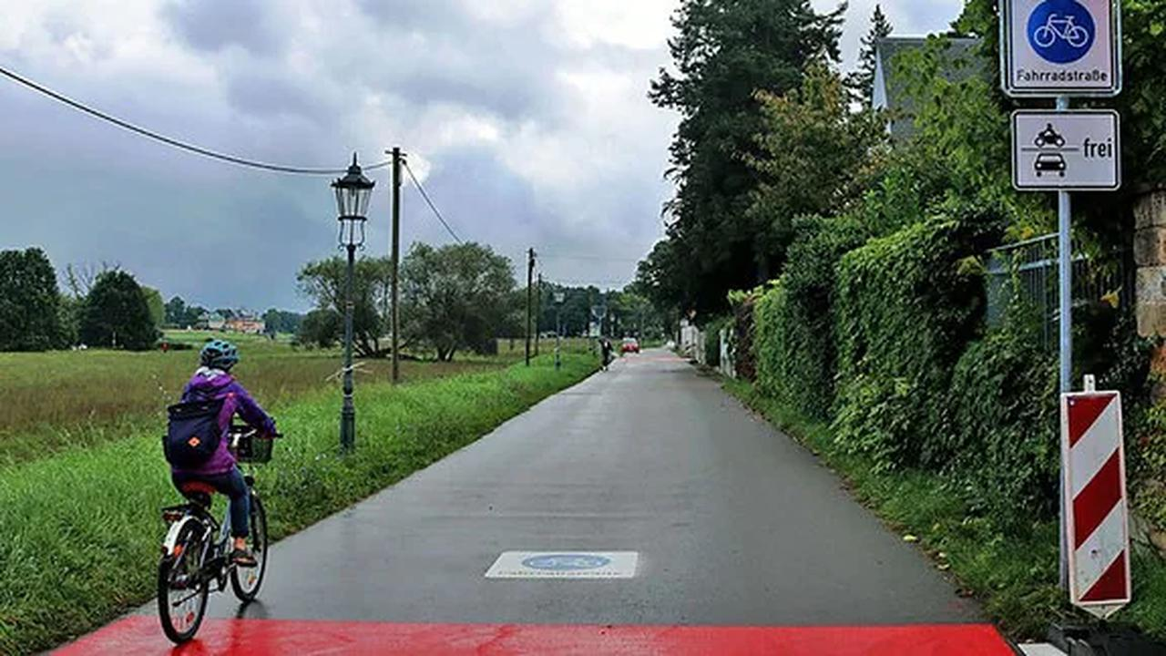 Erste Fahrradstraße in Dresden eröffnet