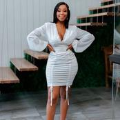 Mzansi goes wild for Candice Modiselle's body figure in this dress