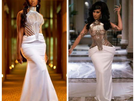 Between Cardi B and Ka3na who do you think rock this outfit the most(pictures)