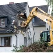 OHH No, Not Againe, The Man Demolish A House He Built For His Mother- in- Law After He Found This