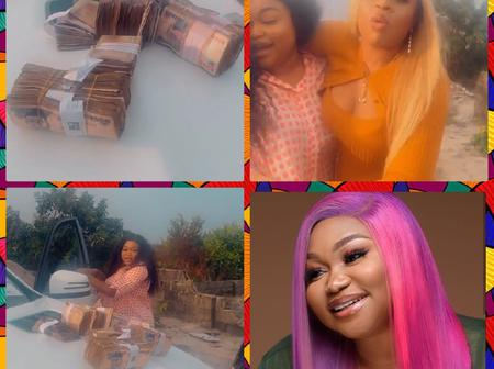Nollywood Actress's Friend Surprises Her With Huge Cash As Birthday Gift (Photos)
