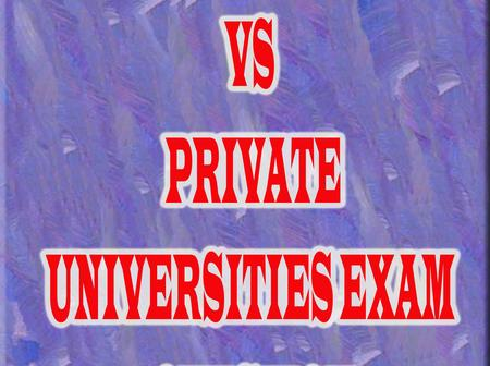 The Difference Is Clear! - Public Vs Private Universities Exam Questions.