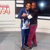 Hilarious Reactions To Photo Of a Male Fan Hugging Erick Omondi