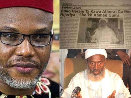 Nnamdi Kanu Digs Out Old Newspaper Of Sheikh Gumi Stating That