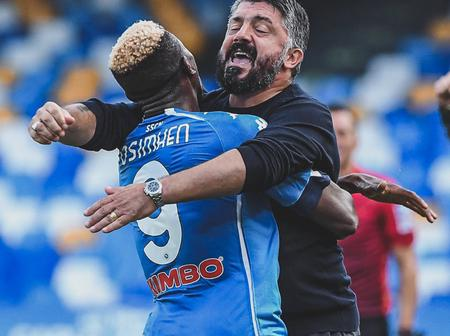 Man Utd star, Iwobi and Omeruo react to Victor Osimhen statement after scoring his first Napoli goal