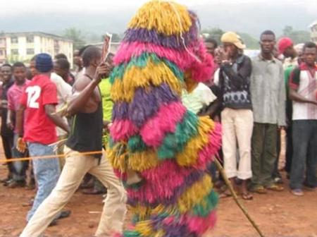 Video: See What Masquerades Were Seen Doing To Lagos Residents To Bless Them For The Year