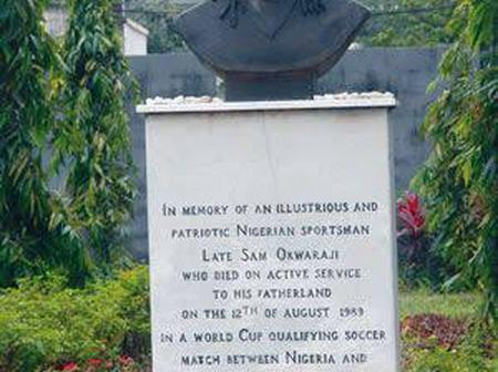 31 years after ex-Nigeria star, Samuel Okwaraji died of heart failure, see how his statue looks now
