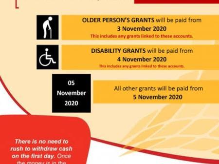 Good news:Sassa has released November payment schedule.