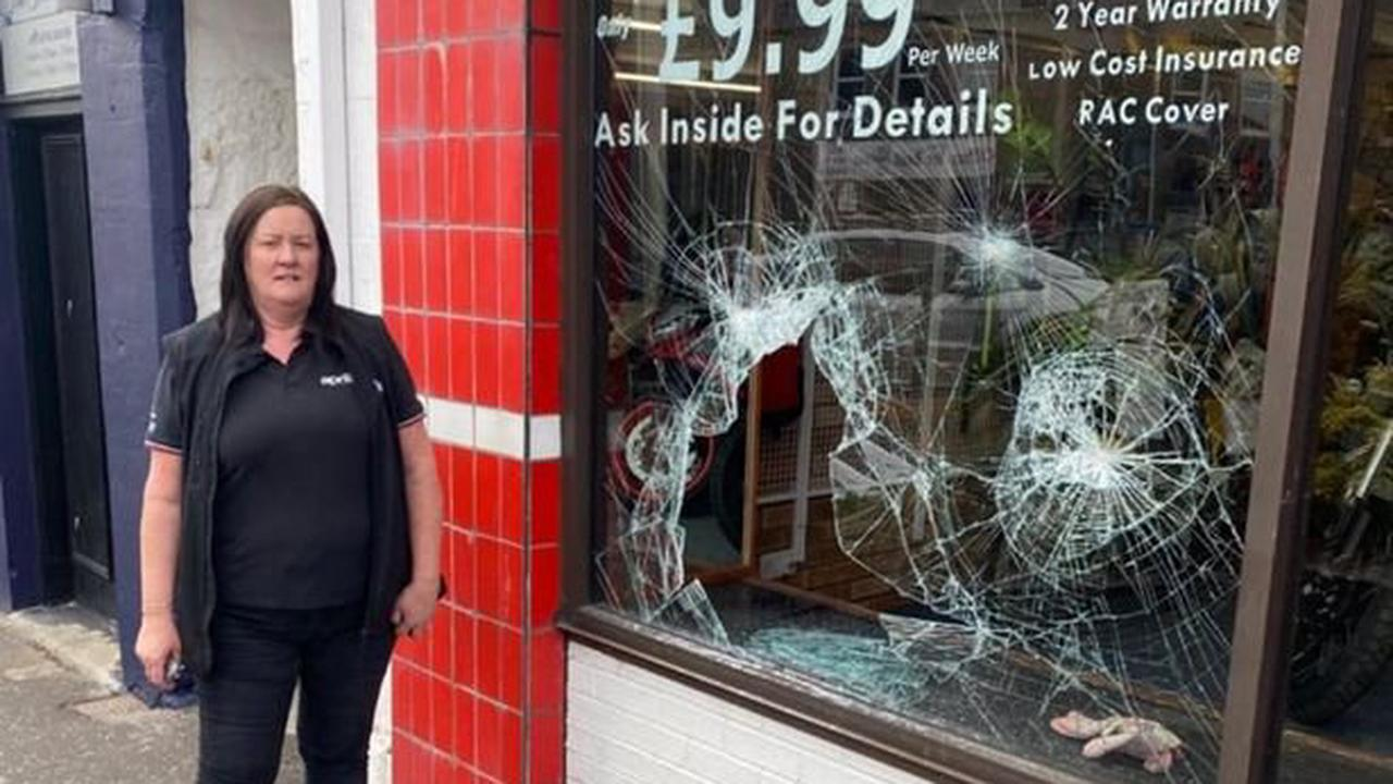 West Lothian motorcycle shop 'furious' after window smashed and pricey bike stolen