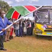 The Interior Cabinet Secretary Fred Matiang'i Flagged Seven School Busses In Rift Valley