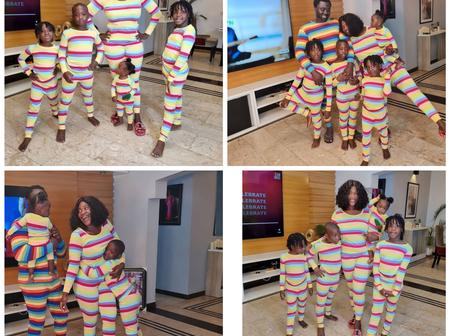 Reaction on social media as Nollywood star Mercy Johnson Okojie shares photos of her family.