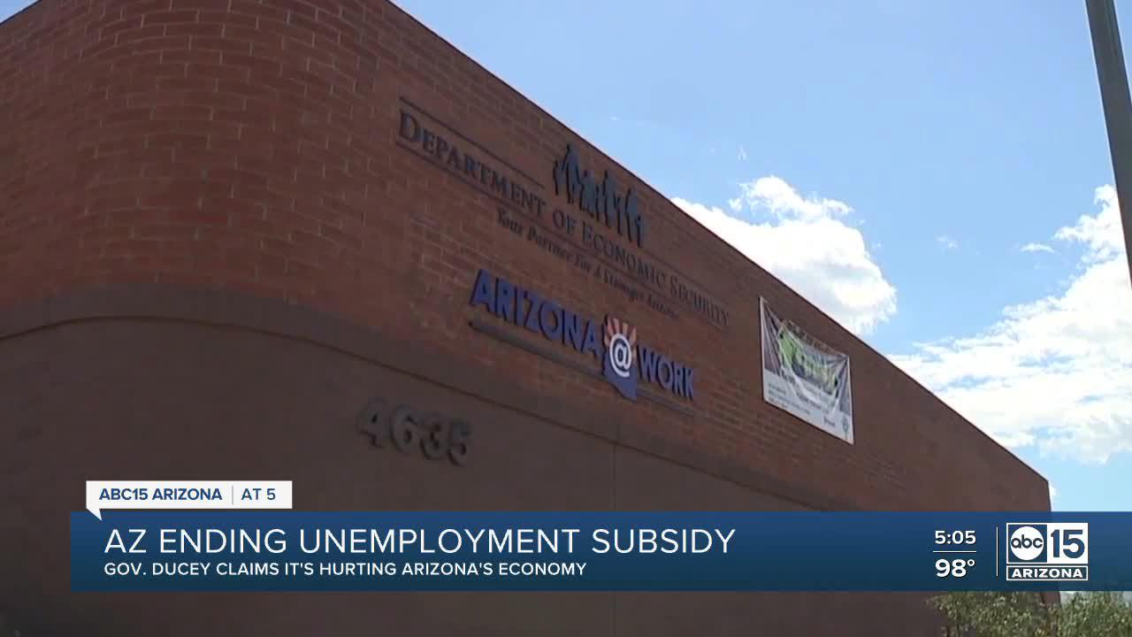 AZ governor ends federal unemployment subsidy that is 'barrier to getting people back to work'