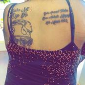 Check Out The Politician A Lady Drew On Her Back That Sparked Reactions On Social Media