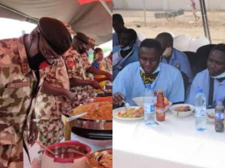 Lovely Photos Of Chief Of Army Staff Celebrating Easter With The Nigerian Troops In The North East