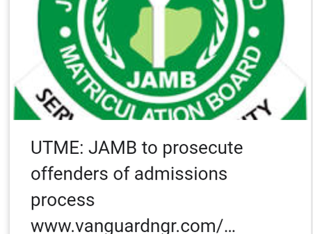 Warning To All Defaulters As Jamb Announces New Measures To Tackle Admission Infractions