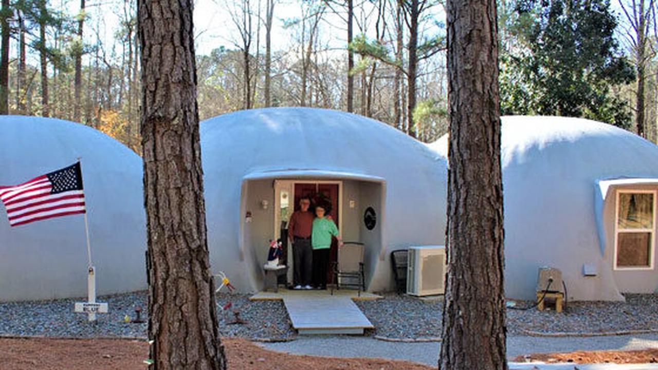 Pinebluff couple enjoys 'caterpillar' dome home