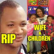 Meet Late Muna Obiekwe's Wife And Two Children Who Were Left To Mourn Him(Photos)