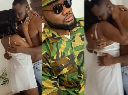 A lot goes into movies, check the romantic role by Prince David Osei behind the scene.(Video)