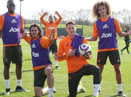 No international break, no problem, see Man utd stars in mini training session today.