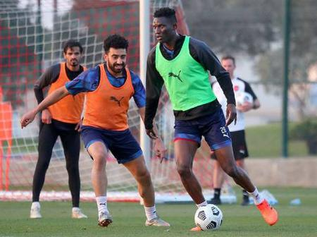 Michael Olunga Shines in Training For Al Duhail SC in Qatar(Photos)