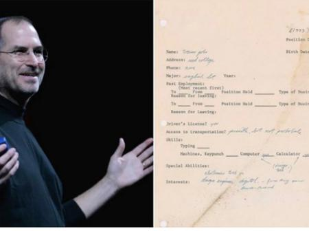 Money Is Good, See How Much Steve Job's 48-Year Application Letter Was Auctioned The Second Time