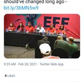 Malema is back again with the drama of racism, see what this time is saying about City names.