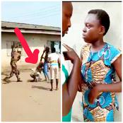 Video:Pregnant 16 Yrs Old Girl Who Reportedly Has 4 Kids Got Beaten By Angry Youths, See What She Did