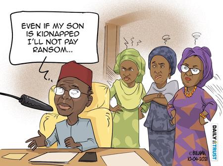 I Won't Pay Ransom To Release My Son - This Cartoon About El-Rufai's Statement Has Sparked Reactions