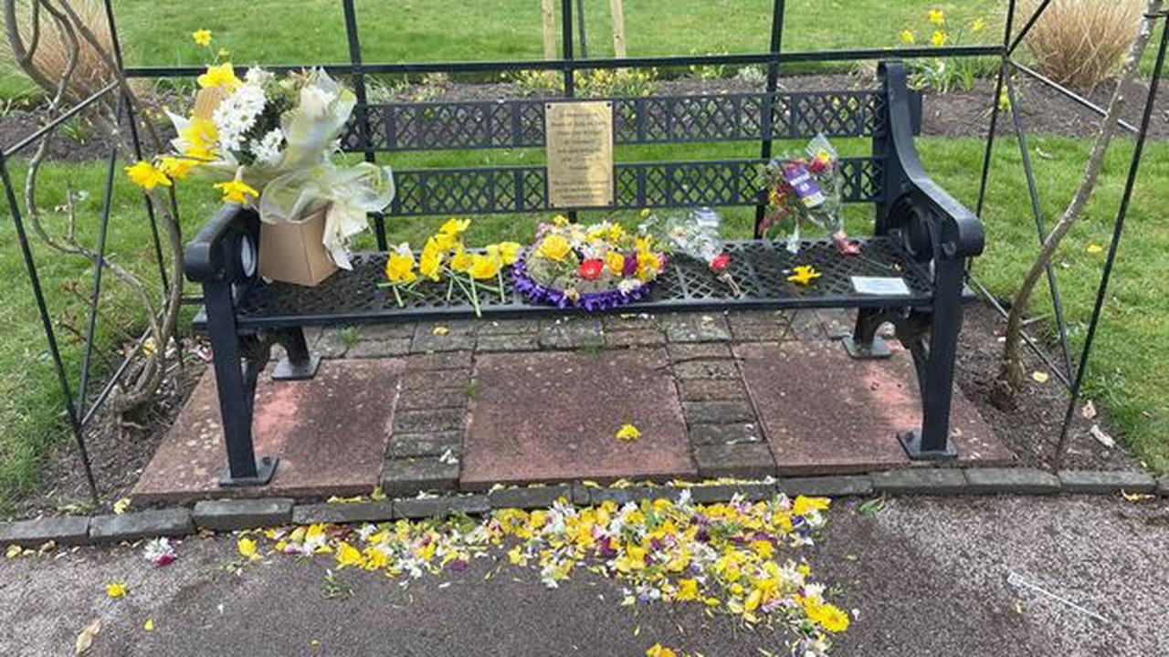 Vandals rip out flowers and damage Captain Tom plaque at Fenton Covid memorial