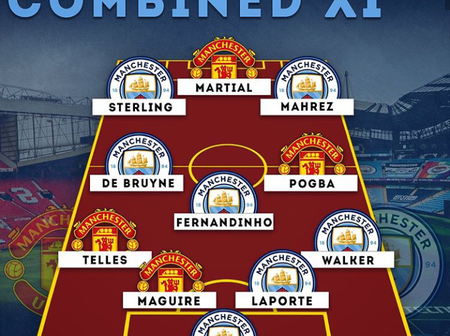 EPL: Manchester United And Manchester City Combined; See The Best Eleven Players From The Two Clubs.