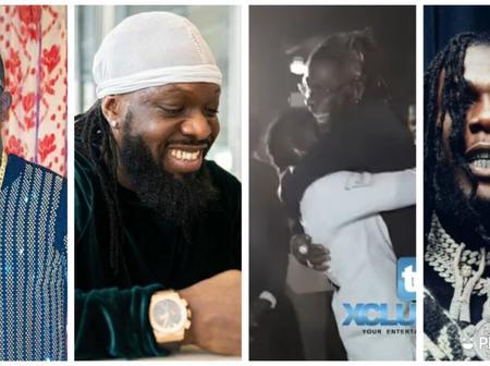 Moment Burna Boy, Timaya, Duncan Hugged Passionately At The Homecoming Concert