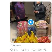 Watch Dudu Myeni donating food to Jacob Zuma, as Zuma expects more visitors