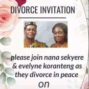 Check Out The Divorce Invitation Of Nigerian Couple That Got People Talking.