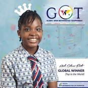 Meet 15-Year Old Student, Faith Odunsi Who Set New Record By Winning The Global Maths Competition