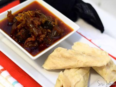 How to prepare white bean pudding with fried stew for lunch