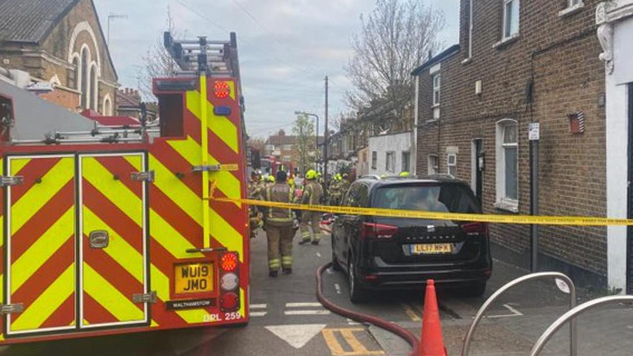 Walthamstow fire: Three men rescued as firefighters tackle blaze at house in east London