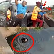 This Driver Is In Trouble, See What He Did To A LASTMA Officer That May Land Him In Jail (VIDEO)