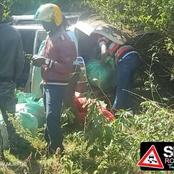 Terrible Accident After Miraa Probox Caught on Video Overtaking Subaru at 180 km/h rolls, Injure 4