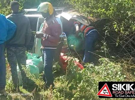 Terrible Accident After Miraa Probox Caught on Video Overtaking Subaru at 180 km/h rolls, Injure 4