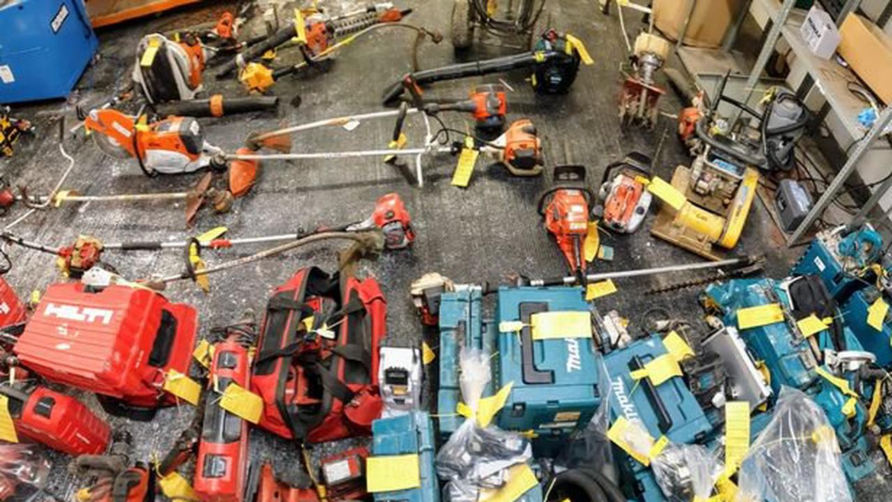 Police find more than 150 stolen power tools in north Manchester raid - now they're trying to find the owners